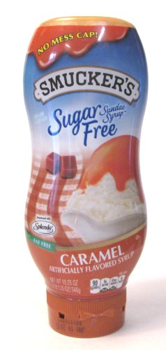Smucker's SUGAR FREE Sudae Syrup: Caramel (Pack of 2) 19.25 oz Size