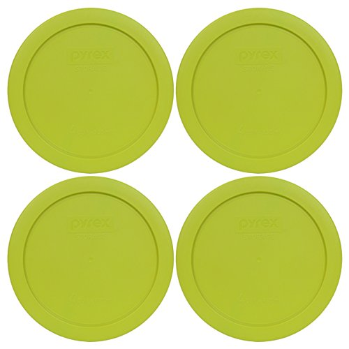 Pyrex 7201-PC Round 4 Cup Storage Lid for Glass Bowls (4, Edamame Green) ()