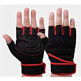Super Marche Men's and Women's Half Finger Gloves for Gym, Power/Weight Lifting, Workout, Cross fit, Fitness, Sports…