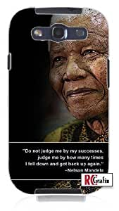 Cool Painting Nelsen Mandela Famous Quote Unique Quality Soft Rubber Case for Samsung Galaxy S4 I9500 - White Case