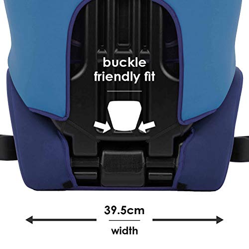 41od1sKEPRL - Diono Cambria 2 Latch, 2-in-1 Belt Positioning Booster Seat, High-Back To Backless Booster XL Space And Room To Grow, 8 Years 1 Booster Seat, Ultimate Safety And Protection, Blue