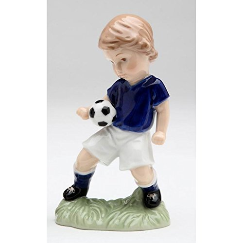 Cosmos 10512 Boy Playing with Soccer Ball Figurine, (Boy Playing Statue)