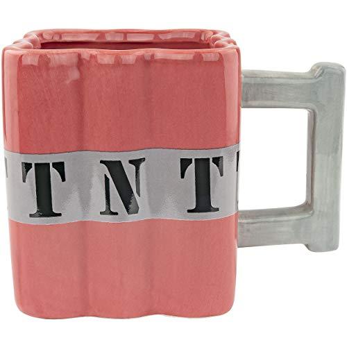 Fairly Odd Novelties FON-10238 TNT Dynamite Shaped Ceramic Coffee Mug, Red