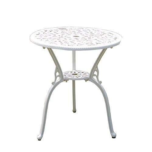 アルミ鋳物ガーデンテーブル アルミガーデンテーブル 軽量で持ち運び簡単!! ガーデンファニチャー ガーデンテーブル アルミ テーブル キャンプテーブル アルミテーブル アウトドア 鋳物 ホワイト B00M2QBJK0