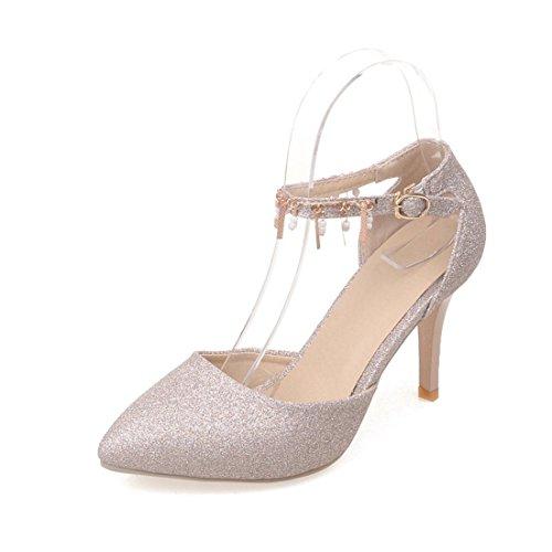 Zapatos de Tacón/La Primavera y el Verano Señaló Sandalias de Tacón Alto de Modo Que el Código de encabezado de Secuencia Zapatos de Mujer Golden