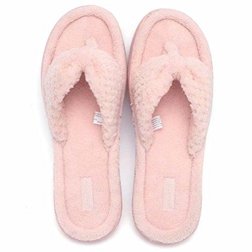 Foam Women's Spa Pink Slippers House Indoor Fanture Thong Flops Cozy Memory Flip qBWdSAU