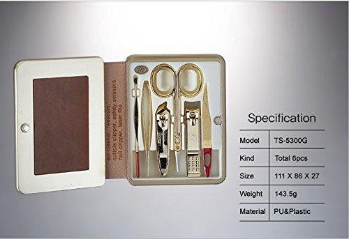 Three Seven (777) Travel Manicure Grooming Kit Nail Clipp...