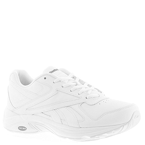 Reebok Men's Ultra V Dmx Max Walking Shoe, White/Flat Grey-Wide e, 9 2E US (Max Leather)