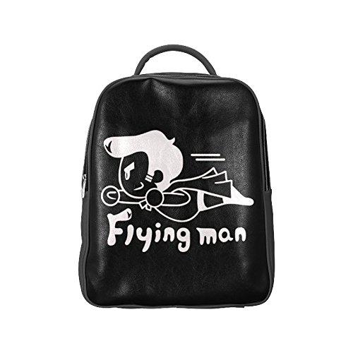 [Navarro Superman Logo Unisex School High-grade PU Leather Backpack Bag Shoulder Bag] (Iron Fist Costumes For Kids)