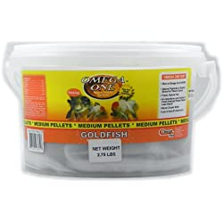 Omega One Medium Sinking Goldfish Pellet Fish Food 2.75-Lbs.
