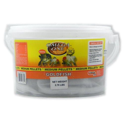 Omega One Medium Sinking Goldfish Pellet Fish Food 2.75-Lbs.