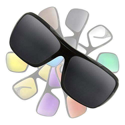 Black (Dark Grey) NON POLARIZED Replacement Lenses for Electric - Sunglasses Crossover Electric
