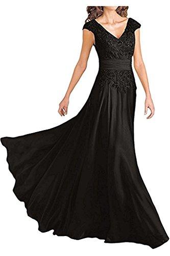 Abendkleider Damen V Spitze Promkleider mia Ausschnitt La Blau Abschlussballkleider Braut Royal Abiballkleider Schwarz qfXw8