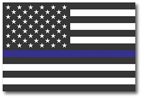 DHDM Decals NI437 Thin Blue Line Flag Magnet | 5-Inch by 3-Inch