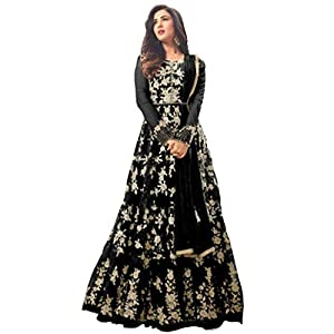 HomeDeal® Women's Net Anarkali Semi-Stiched Gown.