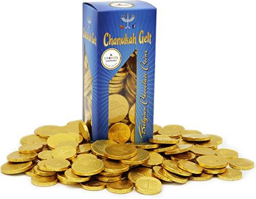 Hanukkah Chocolate Gelt - Nut Free - Belgian Milk Chocolate Coins - 1LB - Over 100 Coins - OU D Kosher Chanukah Gelt