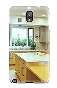 AndreaPope Case Cover Protector Specially Made For Galaxy Note 3 Modern Kitchen With Oak Cabinets And Quartz Counter wangjiang maoyi
