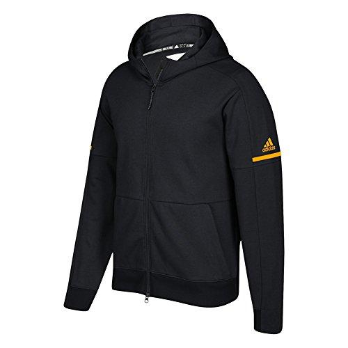 adidas Game Built Squad ID Full Zip Hoodie 2XL Black-Collegiate (Black Collegiate Hoody Sweatshirt)