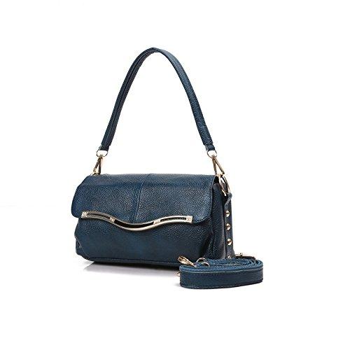 épaule seule en Mama souple homme Pack cuir Nouveau vieil à femmes cuir Blue Sac Sloping sac rouge sac main LANDONA Pq0YSFww