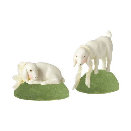 Department 56 Snowbunnies Annual 2012 Easter Collectible Sheep (Set Of 2) (Bunnies 56 Snow)