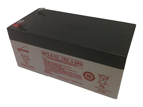 Enersys Genesis Np3 4 12   12 Volt 3 4 Amp Hour Sealed Lead Acid Battery With 0 187 Fast On Connector