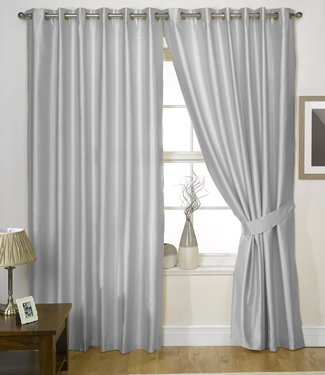 charisma faux silk curtains lined eyelet curtains ready made ring top pairs free