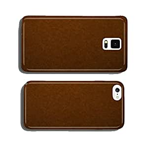 texture of brown color a brushed paper sheet cell phone cover case Samsung S5