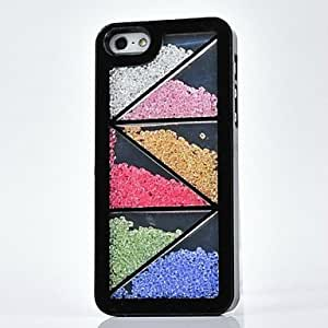 LCJ LUXURY Rhinestone Triangle Back Cover Case for iPhone 4/4S(Assorted Colors) , White