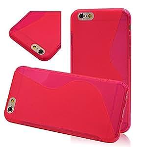 Seedan Translucent Flexible Back Case for iPhone 6 (4.7 inch) TPU Soft Gel Cover Skin Slim S Line Design - Dark Pink