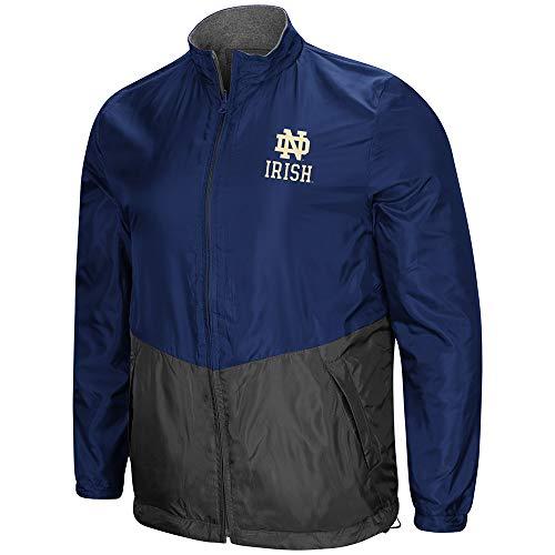 Colosseum NCAA Men's Halfback Reversible Full Zip Fleece Jacket, University of Notre Dame Fighting Irish XX-Large