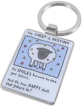 Edward Monkton Keychain: The Sheep of Destiny (Official Licensed Product)