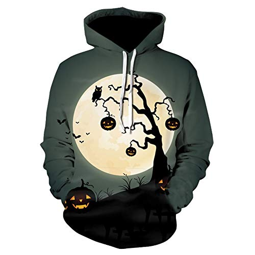 Halloween Couples Mode KIKOY 3D Print Long Sleeve Hoodies Tops Blouse Shirts -