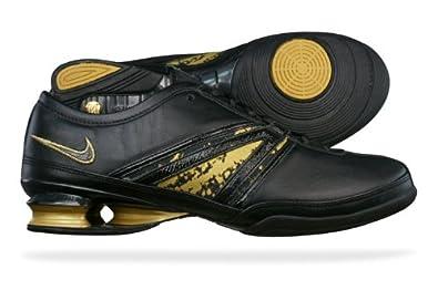 size 40 033a6 ffd49 ... switzerland nike shox qvida womens leather dance fitness trainers black  size uk bf643 9b72c
