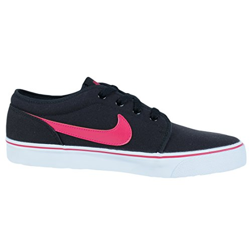 Nike Toki Låg Txt Mode Sneakers Svart Sport Fuchsia White 555272 016 Sz 9,5