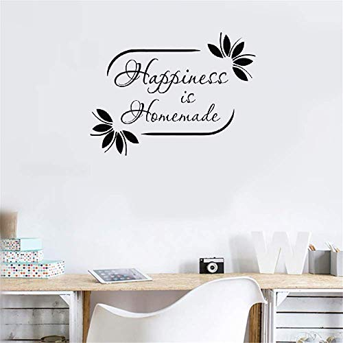 Gonkar Vinyl Wall Sticker Mural Bible Letter Quotes Happiness is Homemade for Living Room -