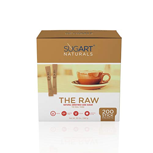 SUGART - THE RAW SUGAR - 200 Individual Serving Stick Packets - U Parve/Kosher by SUGART (Image #2)