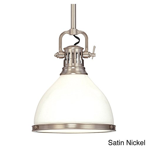 Hudson Valley Lighting Randolph 1-Light 13 inch Pendant Silver Nickel Finish ()