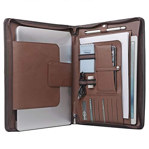 Laptop Portfolio Organizer Case for Surface Book 2 /MacBook Pro 15 inch, MacBook Laptop Folio Case with Organizer Pocket ()