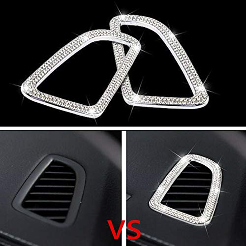 Bling Car Interior Rhinestone Decals Sticker Air Conditioning Outlet Decorative Cover Suitable for Mercedes-Benz C Class C200 C260 C300 C180 GLC260 GLC200 GLC 220 GLC300 2015 - 2018 Car Styling 2 piec ()