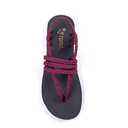 Plaka Yoga Sling Sandals For Women by Sunset Sangria 9 Zori