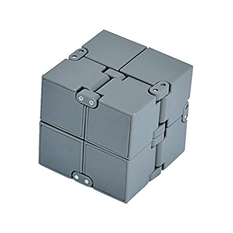 HOMEE Foldable Infinite Cube Skewb Magic Fidget Cube Collapsible Toy Rubiks Plastic Portable For Stress And Hyperactivity Anxiety Relief , ABS Plastic Balance - Plastic Photo Cube