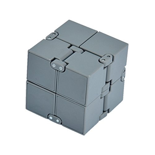Price comparison product image HOMEE Foldable Infinite Cube Skewb Magic Fidget Cube Collapsible Toy Rubiks Plastic Portable For Stress And Hyperactivity Anxiety Relief , ABS Plastic Balance Weight