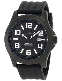 Momentum Men's 1M-SP06B1B Cobalt V Black Ion-Plated Titanium Black Rubber Band Watch