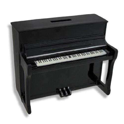 (Zeckos Black Upright Piano Coin Bank)