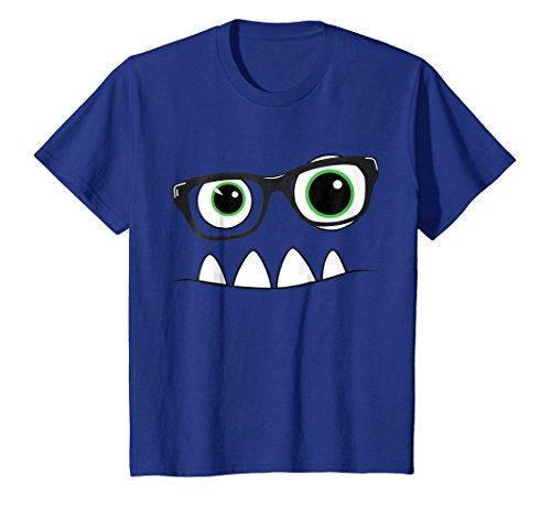 Monster Face Nerd Halloween Costume T Shirt Funny Kids Gifts