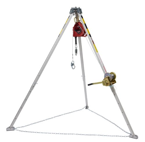 [3M Protecta PRO AA805AG1 Confined Space System Kit, with 8' Tripod, 50' Winch, Carabiner, Pulley, and 50' Rebel Self-Retracting Lifeline] (Confined Space Rescue Equipment)