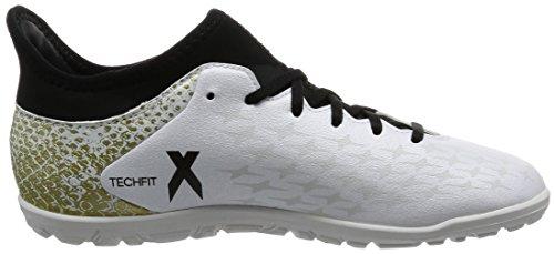 adidas X 16.3 Tf J, Botas De Fútbol para Niños Blanco (Ftwbla / Negbas / Dormet)