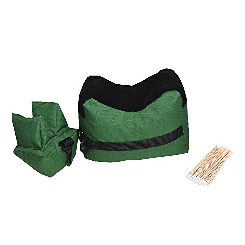 Shooting Rest Bags - Front And Rear SandBag Stand Holders For Gun Rifle With 100 Pcs Cotton Swabs
