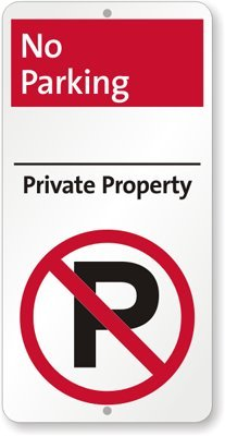 Amazon.com: No Parking - Private Property (with No Parking ...