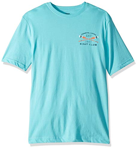 IZOD Men's Short Sleeve Graphic T-Shirt, Radiance Blue, Medium